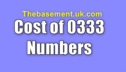 Cost of 0333 Numbers