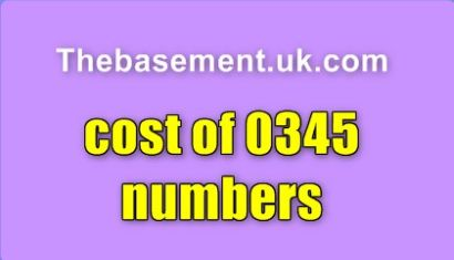 Cost of 0345 numbers